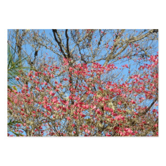 Pink Dogwood Tangle 2 Large Business Cards (Pack Of 100)