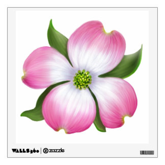 Pink Dogwood Tree Blossom Wall Decal