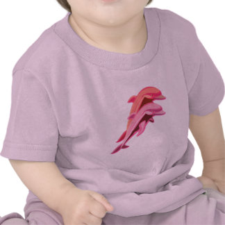 Pink Dolphin Design Baby T-Shirt