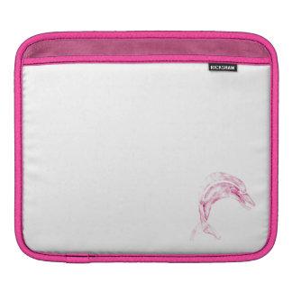 Pink Dolphin iPad Sleeve
