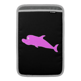 Pink Dolphin on Black. Sleeve For MacBook Air