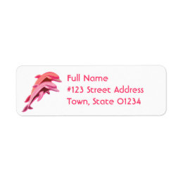 Pink Dolphin Return Address Label