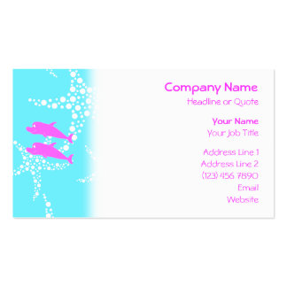 Pink Dolphins. Business Card