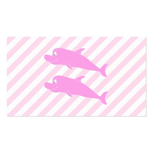 Pink Dolphins. Business Card Template