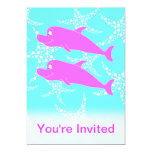 Pink Dolphins. Custom Invites