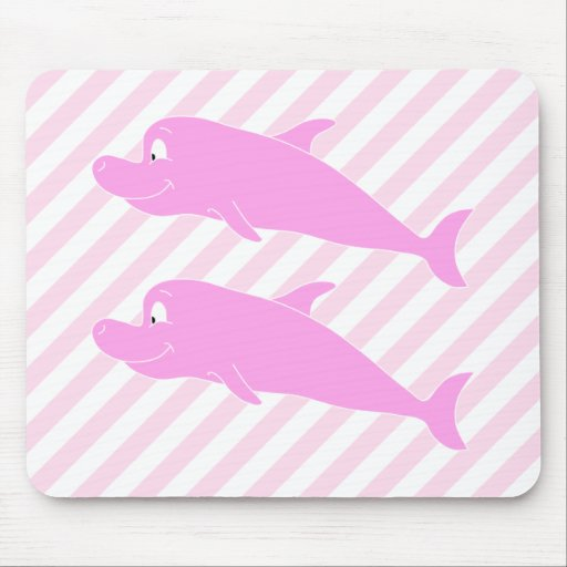 Pink Dolphins. Mouse Pad