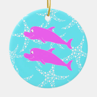 Pink Dolphins. Ornament