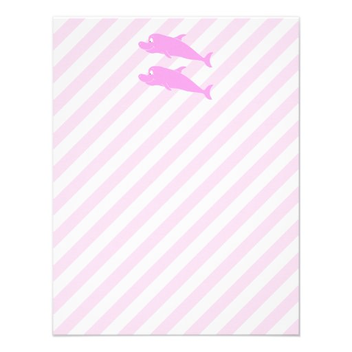 Pink Dolphins. Personalized Invite