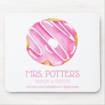Pink Donut Bakery Donut Promotional Personalized Mouse Pad