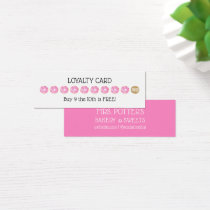 Pink Donut Bakery Loyalty Coupon Card