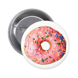 pink donut 2 inch round button
