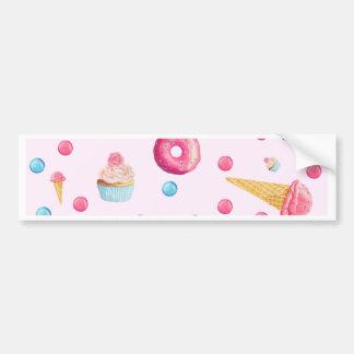 Pink Donut Collage Bumper Sticker