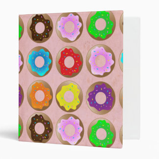 Pink Donut Lot 3 Ring Binder