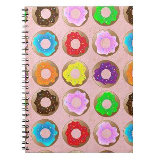 Pink Donut Lot Spiral Notebooks