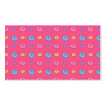 Pink donut pattern business card templates