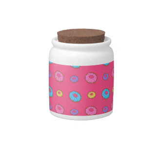Pink donut pattern candy dish
