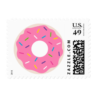 Pink Donut Postage Stamp | Donut Party