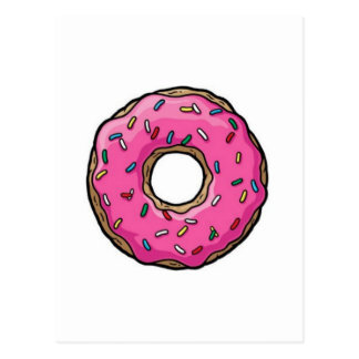 PINK DONUT POST CARD