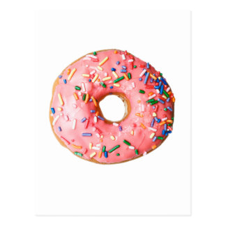 pink donut postcard