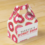 Pink Donut Shop Birthday Party Favor Box