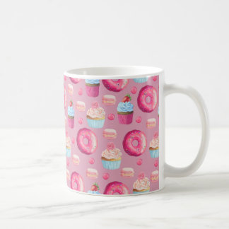 Pink Donuts, Cupcakes, and Candies Coffee Mug