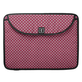 Pink Dot Checkerboard Pattern Sleeves For MacBooks