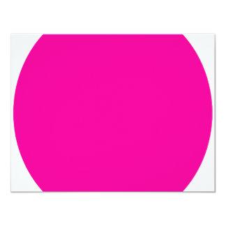 "Pink Dot 4.25"" X 5.5"" Invitation Card"