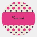 Pink dot pattern - TBA Round Sticker
