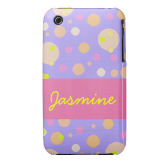 Pink  Dot Yellow Bubbles Customizable iPhone Speck iPhone 3 Cover