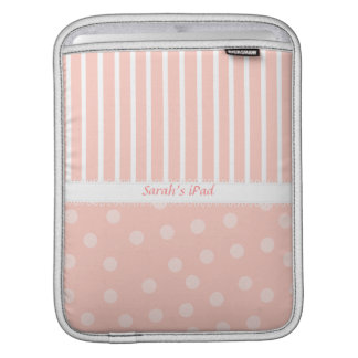 Pink Dots and Stripes iPad Sleeve
