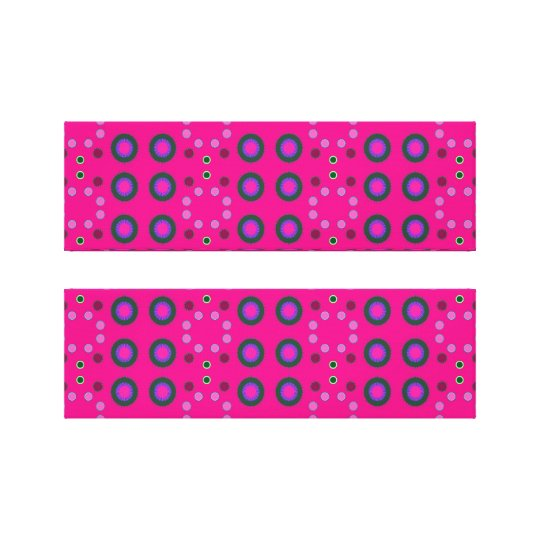 pink dots canvas print