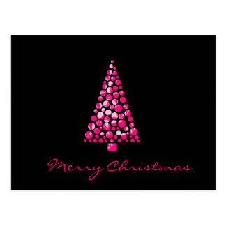 Pink Dots Christmas Tree Postcard