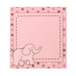 Pink Dots Elephant Notepad