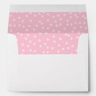 Pink dots Envelope Girl Birthday Princess confetti