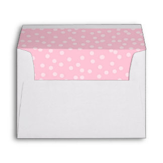 Pink dots Envelope Girl Birthday Princess confetti