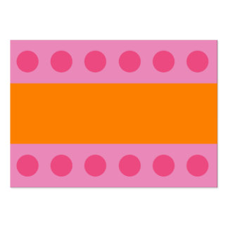 Pink Dots Gift Tag Large Business Card
