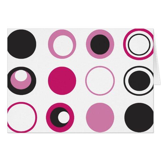 Pink Dots Greeting Card