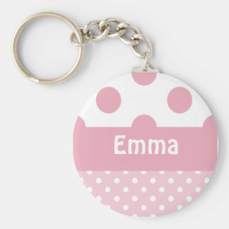 Pink Dots Keychain