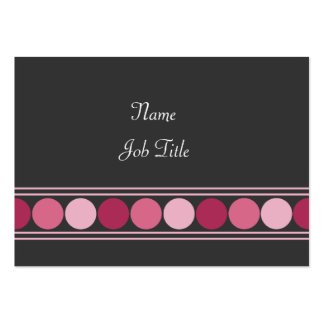 Pink Dots Large Business Card