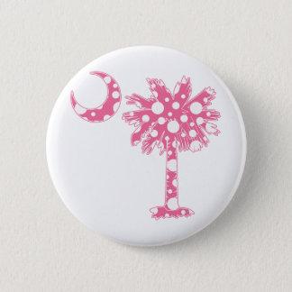 Pink Dots Palmetto Pinback Button