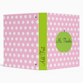 Pink Dots Personalized Teacher Binder