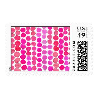 Pink Dots Postage Stamp