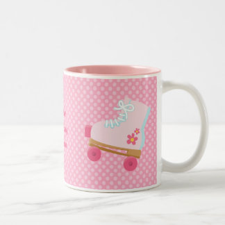Pink Dots Rollerskate Birthday Coffee Mug