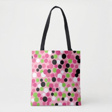 Beach Themed Pink Dots Travel Summer Beach Tote