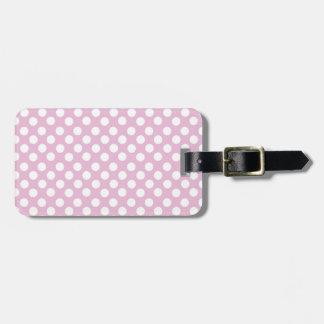 Pink Dotty Polka Dot Luggage Tag