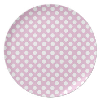 Pink Dotty Polka Dot Plate