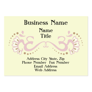 Pink Double Om Profile Card Large Business Cards (Pack Of 100)