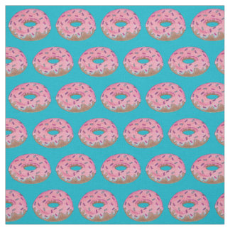 Pink Doughnut Donut with Sprinkles Fabric