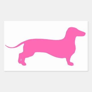 Pink Doxie Rectangular Sticker