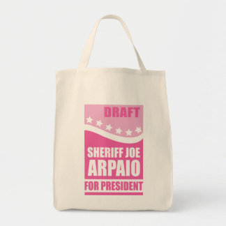 Pink Draft Sheriff Joe for President Canvas Bags